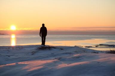 Solnedgang på Hyppeln (©Isabel Bjurmalm)